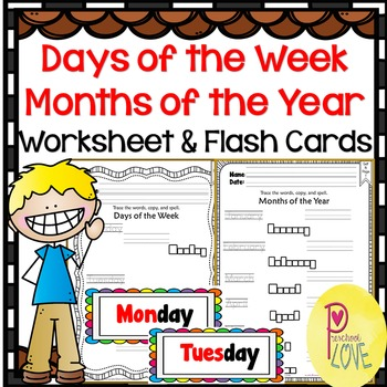 photo relating to Printable Months of the Year for Preschool named Times of the 7 days and Weeks of the 12 months