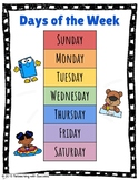 Days of the Week and Months of the Year Anchor Charts