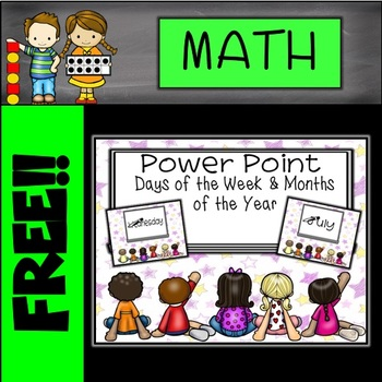 FREE Days of the Week and Months of the Year Animated PowerPoint