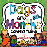 Days of the Week and Months of the Year (Camping Theme)