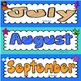 Days of the Week and Months of the Year Cards {Under the Sea Themed}