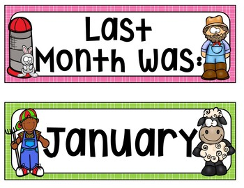 Days of the Week and Months of the Year (Farm Theme)