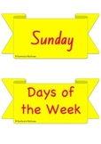 Days of the Week and Months of the Year - Flash Cards