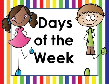 Days of the Week and Months of the Year Labels - Rainbow Theme