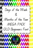Days of the Week and Months of the Year MEGA PACK