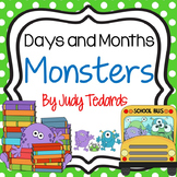 Days of the Week and Months of the Year-Monster Theme