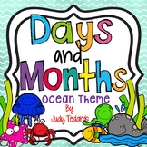 Days of the Week and Months of the Year (Ocean Theme)
