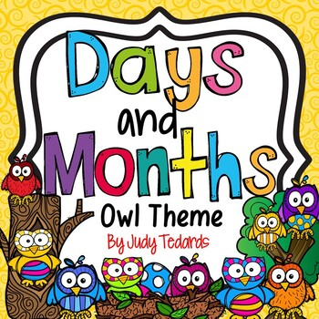 Days of the Week and Months of the Year-Owl Theme