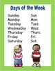 Days of the Week and Months of the Year Posters