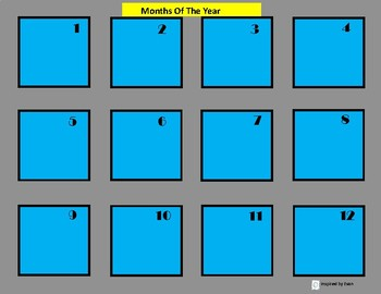 Days of the Week and Months of the Year Sequence Boards for Autism