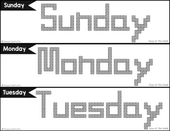 Days of the Week and Months of the Year Task Cards: Connecting Cubes