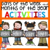 Days of the Week and Months of the Year Cards and Activities