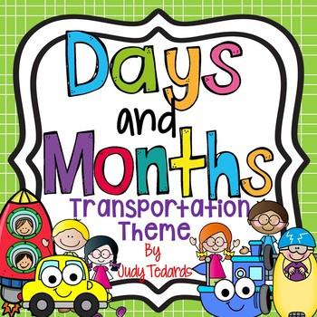 Days of the Week and Months of the Year (Transportation Theme)