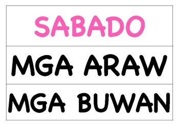Days of the Week and Months of the Year in Filipino