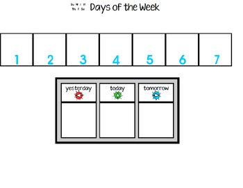 Days of the Week and Months of the Year: sequencing
