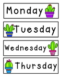 Days of the Week (cactus theme)