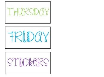 Days of the Week drawer organization