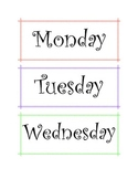 Days of the Week for Calendar Time