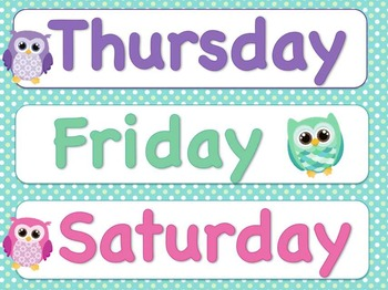 Days of the Week for Your O... by Nancy Robinson | Teachers Pay ...