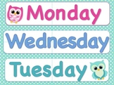 Days of the Week for Your Owl Theme Classroom