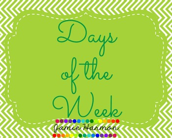 Days of the Week in Blues and Greens