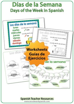 days of the week in spanish worksheets wall charts and flash cards. Black Bedroom Furniture Sets. Home Design Ideas