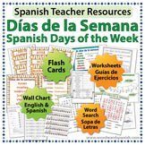 Days of the Week in Spanish - Worksheets, Wall Charts and