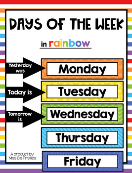 Days of the Week {in rainbow}