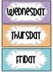 """Days of the Week"" polka dot set (freebie)"