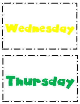 Days of the Week signs