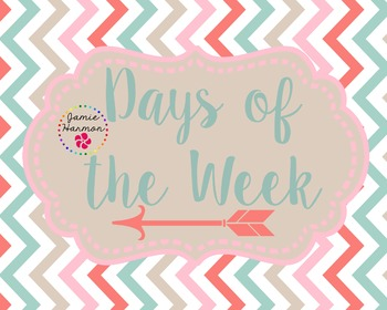 Days of the Week with Arrow Accents