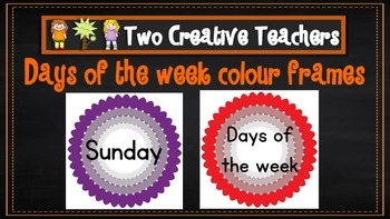 Days of the Week with Fancy Frames