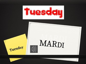 Days of the Week/Jours de la Semaine French Vocab Flashcards