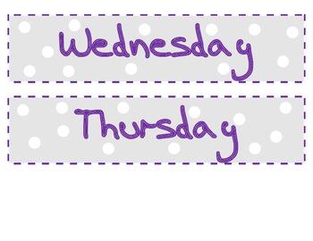 Days of the Week_Organization