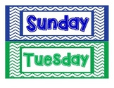 Days of the Week_chevron frame