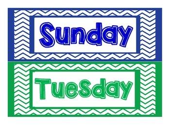 Days of the Week_chevron frame