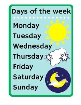 Days of the week 2 - Sun Moon