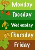 Days of the week Autumn Theme