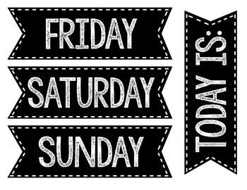 Days of the week-Black
