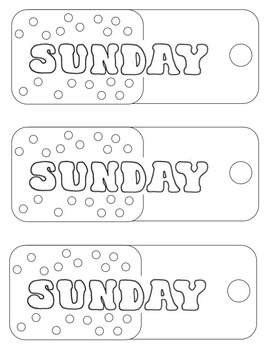Days of the week Bookmarks