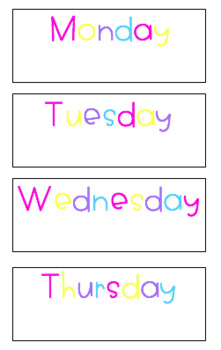 Days Of The Week [Bright and White]