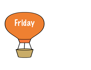 Days of the week - Classroom Display