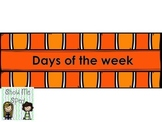 Days of the week File folder/work box