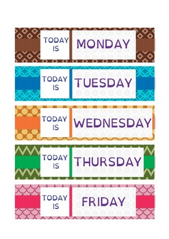 Days of the week: Flashcards 1
