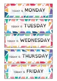 Days of the week: Flashcards 2