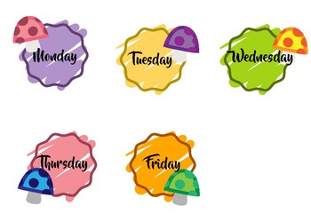 Days of the week: Flashcards 3