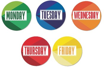 Days of the week: Flashcards 4 Modern Style