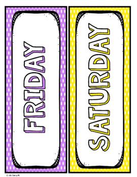 Days of the week - Polka Dot