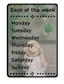 Days of the week - Seated in the sun