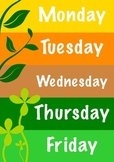 Days of the week Spring theme